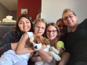 Famille d'accueil française
